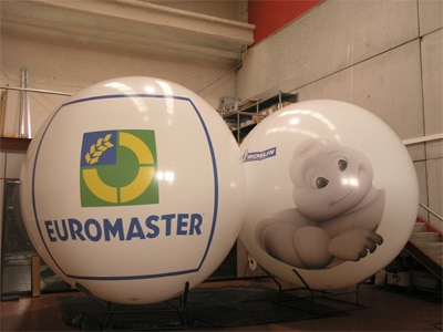 AIRSYSTEMS - Fabricant de structures gonflables : BALLONS ET MONTGOLFIÈRES GONFLABLES : Ballon gonflable - Michelin / Euromaster