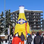 Stand gonflable publicitaire - bouteille gonflable Orangina