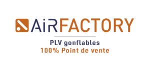 Airsystems France - Marque Airfactory : Plv gonflable magasins et retail